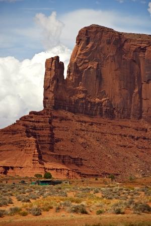 navajo land: Monument Valley Scenery - Arizona, USA. Vertical Monument Closeup Photo. Arizona Photo Collection.