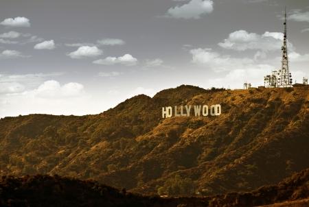 캘리포니아, 미국에서 유명한 할리우드 힐스. 할리우드 사인. 에디토리얼