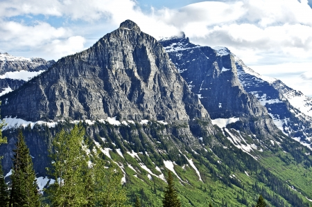 rocky mountains: Montana Rocky Mountains - Scenic Montana, USA. Glacier National Park. Natuur foto collectie.