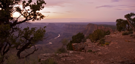 Grand Canyon Panorama. Panoramic Photography of Grand Canyon During Sunset. Arizona, USA. Nature Photo Collection. Stock Photo - 15543996