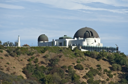 hollywood   california: Observatory Griffith in California, USA. Griffith Park. Stock Photo