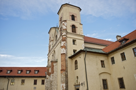 casimir: The Benedictine Abbey in Tyniec, Poland (Near Krakow). Central Europe. According to the local tradition the Abbey was founded in 1044 by Casimir the Restorer. Horizontal Photography.