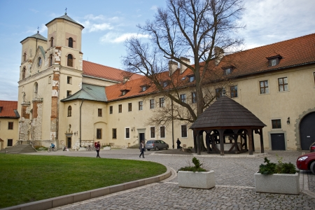 casimir: Abbey in Tyniec, Poland. The Benedictine Abbey Built Centuries Ago. Polish Historical Place. Famous Places Photo Collection.