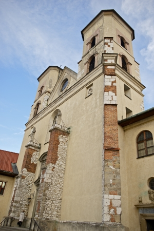 casimir: Abbey Towers in Tyniec. The Benedictine Abbey in Cracow, Poland. Architecture Photo Collection.