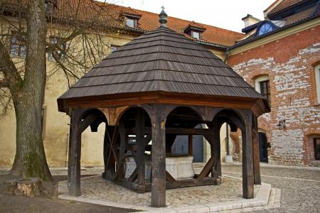 Abyssal Well in Tyniec Abbey ( Krakow, Poland )  Historical Mark. Poland Photography Collection. 版權商用圖片