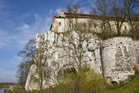 casimir: Tyniec Abbey - Tyniec - Krakow Benedictine Abbey on Rock. Architecture Photo Collection. Stock Photo