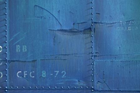 青の金属製の壁の写真の背景は汚い。 写真素材 - 19642406