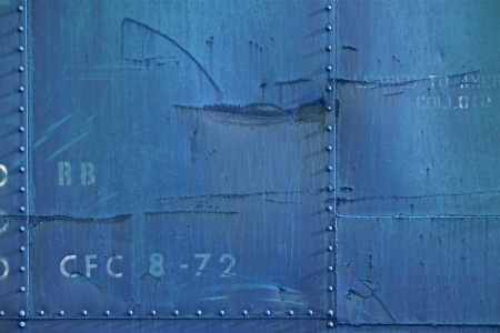 Dirty Blue Metal Wall Photo Background. Stock Photo - 19642406