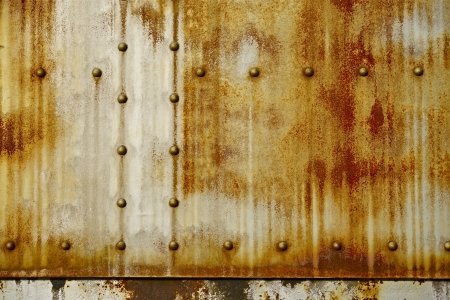 Rusty Metal with Rivets Photo Background. Nasty Backgrounds Collection. Stock Photo - 19642465