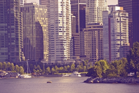 british columbia: Vancouver in Ultraviolet Color Grading. Vancouver, Canada. Cities photo Collection.