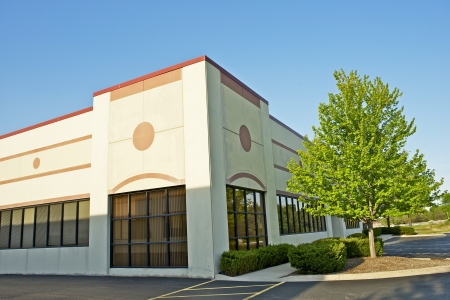 sidewalk sale: Commercial Building - Retail Building Corner Office Space. Commercial Architecture.  Stock Photo