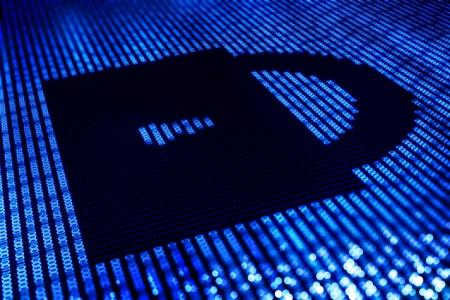 passkey: Safe Lock Digital Illustration - Online Transaction Safety  Password Key - Illustration. Stock Photo