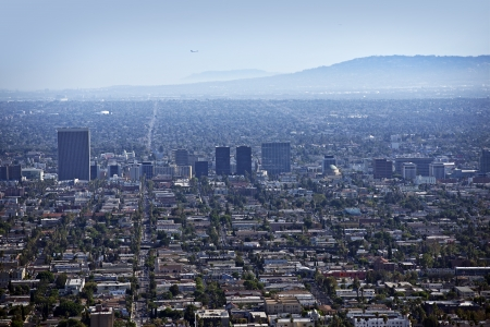 West Los Angeles metro Area  Los Angeles, California, USA Panorama  American Cities Photo Collection  photo