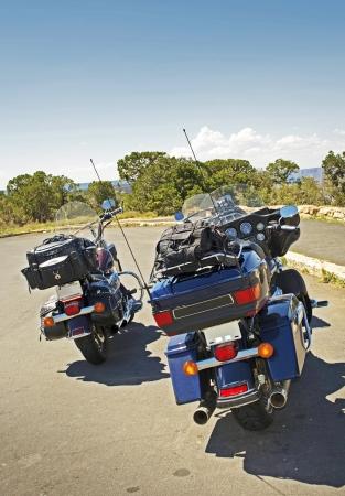 across america: Traveling Bikers Quick Stop. Bikers Traveling Across North America. Quick Stop in Arizona.