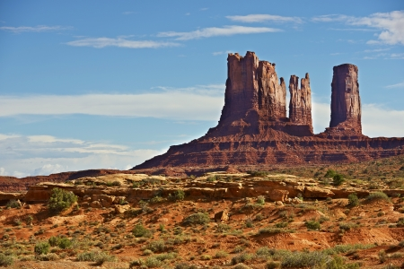 tribal park: Monuments Valley Scenery. Arizona Monuments Valley Tribal Park in Navajo Nation Reservation.
