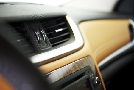Car Interior - Car Vents Closeup. Vehicle Interiors