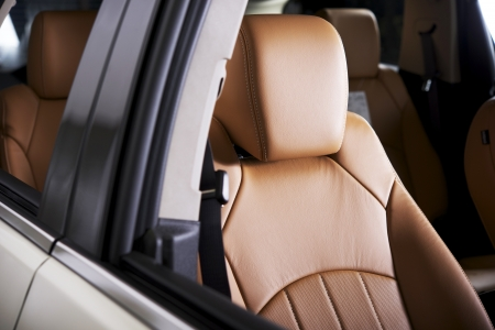 car seat: Comfortable Car Seat - Leather Modern Car Seat. Cars Interiors Collection. Stock Photo