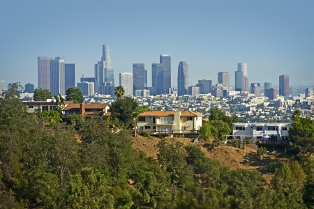 angeles: Downtown Los Angeles in a  Distance. Souther California, USA.