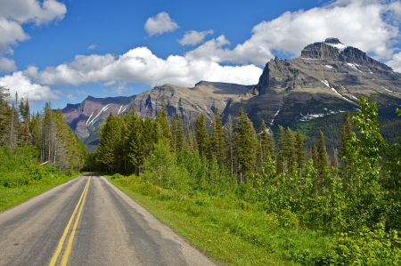scenic highway: Montana Journey. Traveling Through Scenic Montana State. Rocky Mountains. Outdoor Collection.
