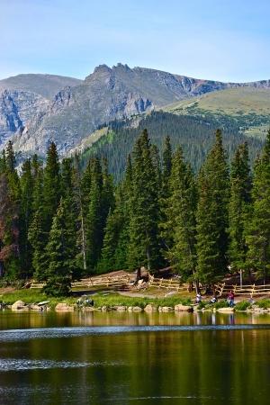 mount evans: Scenic Colorado Echo Lake Landscape in Vertical Photography. Colorado Photo Collection.