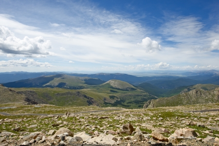 evans: Colorado Panorama - Rocky Mountains. Colorado USA. Picture Takes From Mt Evans. Mountains Collection.