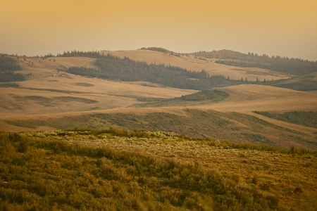 wyoming: Wyoming Landscape at Sunset. Southern Wyoming Hills. Nature Photo Collection.