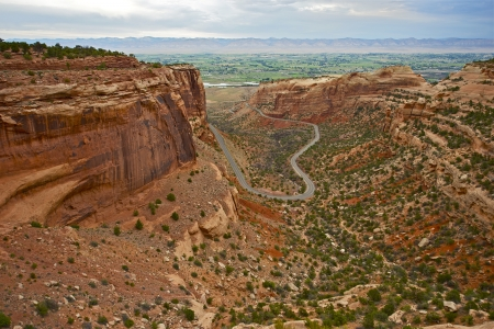 Colorado National Monument in Grand Junction, CO.  Canyon Road. Nature Beauty. Colorado Scenery. Colorado Photography Collection. photo