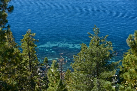 Clear Lake Water - Lake Tahoe, California, USA.  photo