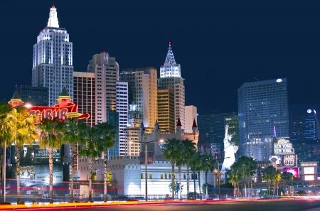 밤 라스 베이거스 스트립 (Las Vegas Strip). 멋진 라스베가스, 네바다, 미국. 네바다 주 컬렉션입니다. 사설으로 만 사용됩니다.