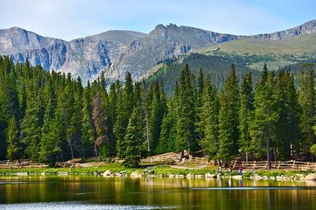mount evans: Colorado Echo Lake and Rocky Mountains. Colorado Scenery, USA.