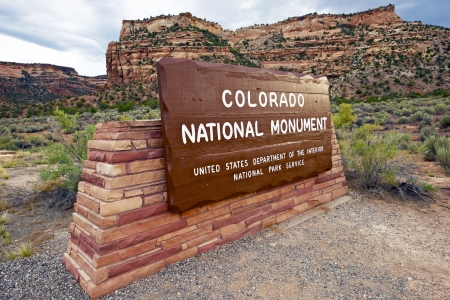 Colorado National Monument Entrance  State Park in Grand Junction, Colorado USA  photo