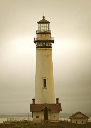 lighthouse with beam: The Lighthouse. Pigeon Point Lighthouse, California, USA. Pacific Shore. Architecture Photo Collection.