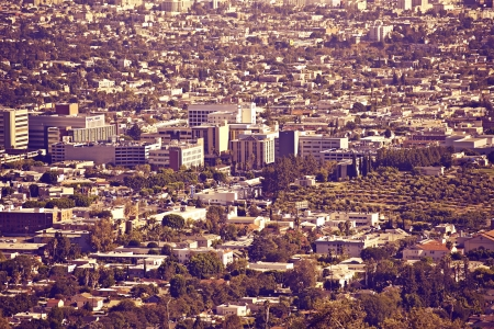 Los Angeles Metro Area - Panoramic Photo  Ultraviolet Color Grading  Urban Photo Collection  photo