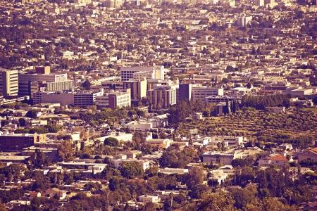 metropolitan: Los Angeles Metro Area - Panoramic Photo  Ultraviolet Color Grading  Urban Photo Collection