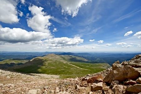 mount evans: Colorado Summer Landscape. Rocky Mountains - Road to Mount Evans. Colorado Photo Collection.