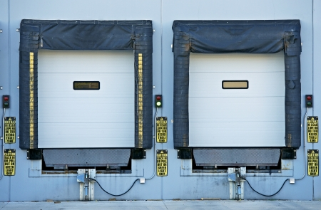 Two Shipping Gates for Trucks. Industrial Collection. Stok Fotoğraf - 22452049