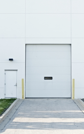 warehouse building: Shipping Gate - Commercial Building. Warehouse. Stock Photo