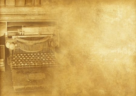 Old Typewriter Machine Vintage Background. Vintage Backgrounds Collection.