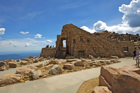 mount evans: Crest House Mt Evans. Building Ruins Located at the Summit of Mount Evans in Colorado.