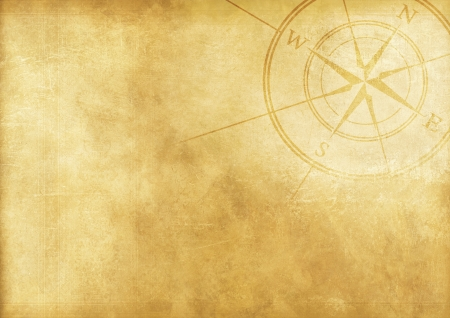 golden texture: Vintage Journey Background with Compass Rose. Aged Paper Background.