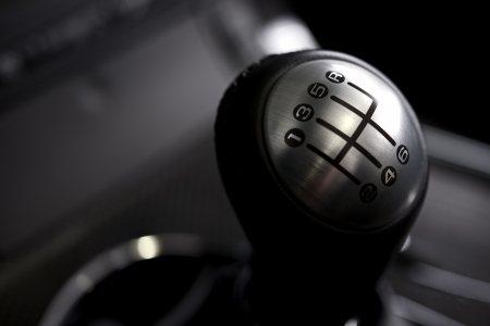 Manual Transmission Stick. Six Speed Car Transmission. Transportation Collection.