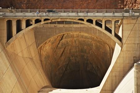 Spillway Inlet Bridge - Hoover Dam, Arizona  Nevada, USA.  photo