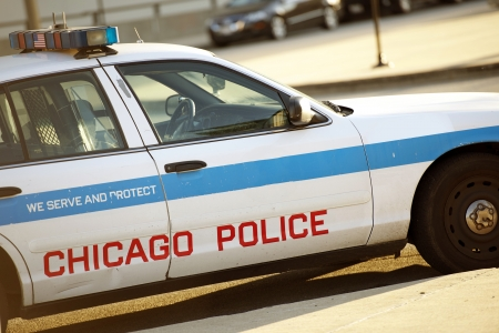 public safety: Police Cruiser in Chicago. Chicago Police Car. Transportation and Public Safety Collection.