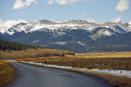 fairplay: Destination Colorado. Paved Back Country Road in Colorado, United States. Colorado State Photo Collection.