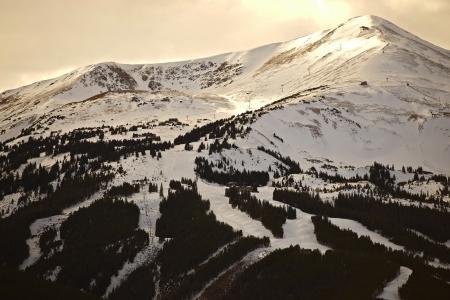Ski Slopes in Breckenridge, Colorado Famous Ski Area. Skiing Theme. Ski Slopes Under the Snow. photo