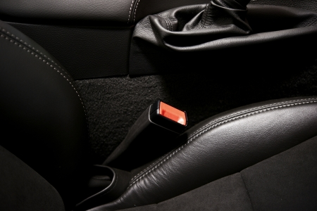 Car Seat Belt. Modern Car Interior and Seat Belt Closeup, Vehicle Interiors Photo Collection. photo