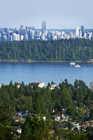 mainland: City of Vancouver. Coastal Seaport City on the Mainland of British Columbia, Canada. Stock Photo