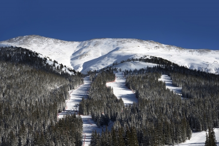 colorado landscape: Colorado Ski Slopes and Winter Mountain Landscape. Colorado Landscape. Stock Photo
