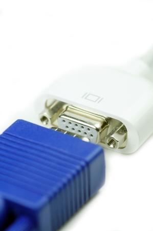 vga: VGA PC a MAC Display Connectors Primer. Foto de archivo