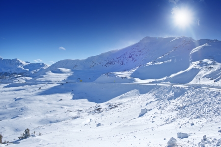 loveland: Arapahoe Basin Area, Colorado, United States. Colorado Mountains Winter Panorama.